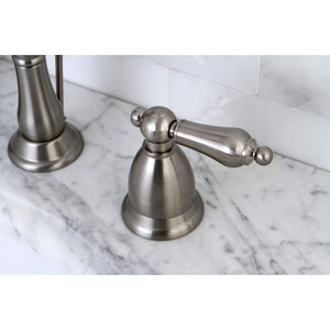 Kingston Brass Heritage 8 in. Traditional Widespread Bathroom Faucet with Metal Lever Handles