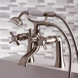 Kingston Brass Essex 2-Handle Deck Mount Clawfoot Tub Faucet with Hand Shower