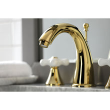 Load image into Gallery viewer, Kingston Brass Naples 8 in. Widespread Cross Handle Bathroom Faucet