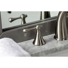 Load image into Gallery viewer, Kingston Brass English Country 8 in. Widespread Bathroom Faucet with Brass Pop-Up Drain