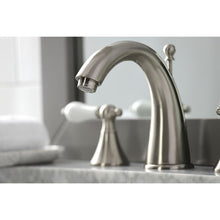 Load image into Gallery viewer, Kingston Brass Naples 8 in. Widespread Bathroom Faucet with Porcelain Handles