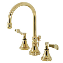 Load image into Gallery viewer, Kingston Brass Century Widespread Bathroom Faucet with Brass Pop-Up