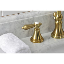 Load image into Gallery viewer, Kingston Brass Heirloom Widespread Bathroom Faucet with Brass Pop-Up