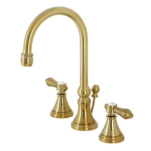 Kingston Brass Heirloom Widespread Bathroom Faucet with Brass Pop-Up