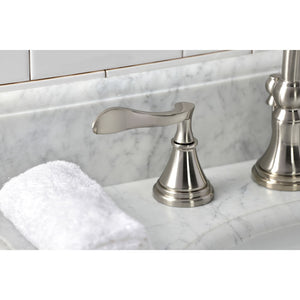Kingston Brass Century Widespread Bathroom Faucet with Brass Pop-Up