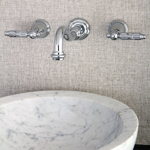 Kingston Brass Vintage 2-Handle Centerset Wall Mount Bathroom Faucet