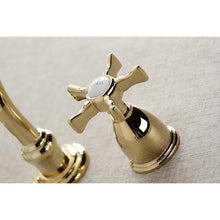 Load image into Gallery viewer, Kingston Brass Hamilton Wall Mount Bathroom Faucet with Cross Handles