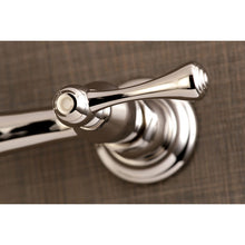 Load image into Gallery viewer, Kingston Brass Vintage Wall Mount Bathroom Faucet with Dual Levers