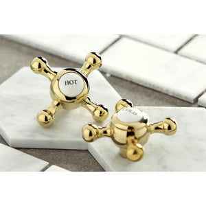 Kingston Brass Metropolitan 8 in. Widespread Cross Handle Bathroom Faucet