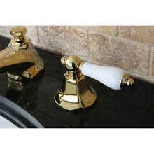 Load image into Gallery viewer, Kingston Brass Metropolitan 8 in. Widespread Bathroom Faucet with Porcelain Lever Handles