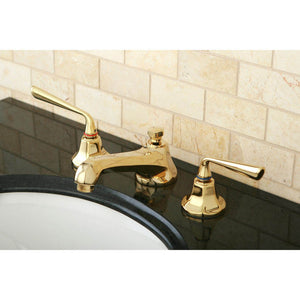 Kingston Brass Silver Sage 8 in. Widespread Lever Handle Bathroom Faucet