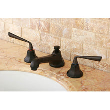 Load image into Gallery viewer, Kingston Brass Silver Sage 8 in. Widespread Lever Handle Bathroom Faucet