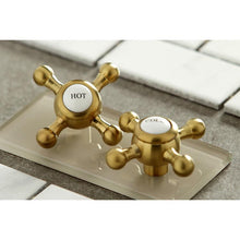 Load image into Gallery viewer, Kingston Brass Metropolitan 8 in. Widespread Cross Handle Bathroom Faucet