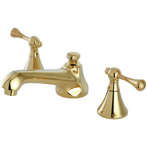 Kingston Brass Modern 8 in. Widespread Bathroom Faucet with Metal Lever Handles