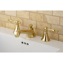 Load image into Gallery viewer, Kingston Brass Naples 8 in. Widespread Bathroom Faucet with Retail Pop-Up