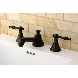 Kingston Brass Naples 8 in. Widespread Bathroom Faucet with Retail Pop-Up