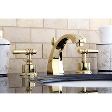 Load image into Gallery viewer, Kingston Brass Milano 8 in. Widespread Bathroom Faucet with Retail Pop-Up