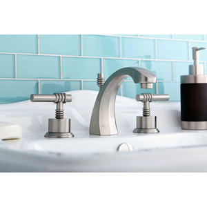 Kingston Brass Milano 8 in. Widespread Bathroom Faucet with Retail Pop-Up