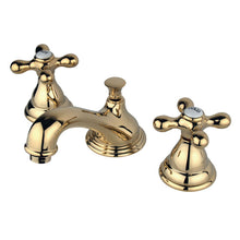 Load image into Gallery viewer, Kingston Brass Royale 8 in. Widespread Bathroom Faucet with Cross Handles with Matching Pop-Up Drain