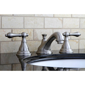 Kingston Brass 8 in. Widespread Lever Handle Bathroom Faucet
