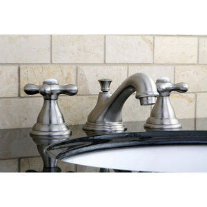 Kingston Brass Royale 8 in. Widespread Bathroom Faucet with Cross Handles with Matching Pop-Up Drain