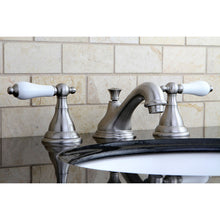 Load image into Gallery viewer, Kingston Brass Royale 8 in. Widespread Bathroom Faucet with Porcelain Handles