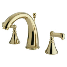 Load image into Gallery viewer, Kingston Brass Royale 8 in. Widespread Bathroom Faucet with Pop-Up Drain