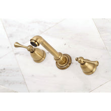 Load image into Gallery viewer, Kingston Brass English Country Two-Handle Wall Mount Bathroom Faucet with Retail Pop-Ups