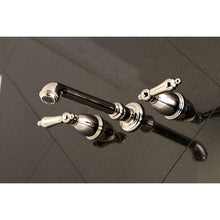 Load image into Gallery viewer, Kingston Brass English Country Two-Handle Wall Mount Bathroom Faucet with Pop-Up Drain