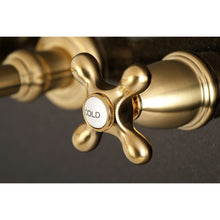 Load image into Gallery viewer, Kingston Brass English Country Two-Handle Wall Mount Bathroom Faucet with Cross Handles