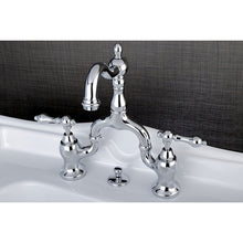 Load image into Gallery viewer, Kingston Brass English Country Bathroom Bridge Faucet with Matching Brass Pop-Up