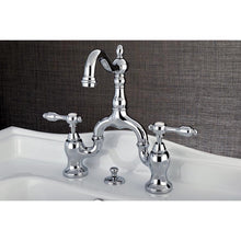 Load image into Gallery viewer, Kingston Brass Tudor Bridge Bathroom Faucet with Lever Handles