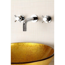 Load image into Gallery viewer, Kingston Brass Concord 2-Handle Wall Mount Bathroom Faucet with Cross Handles