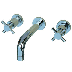 Kingston Brass Concord 2-Handle Wall Mount Bathroom Faucet with Cross Handles