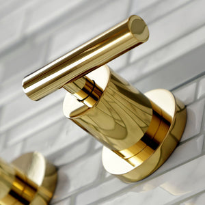 Kingston Brass Manhattan 2-Handle 8 in. Wall Mount Bathroom Faucet