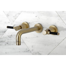 Load image into Gallery viewer, Kingston Brass Kaiser 2-Handle Wall Mount Bathroom Faucet