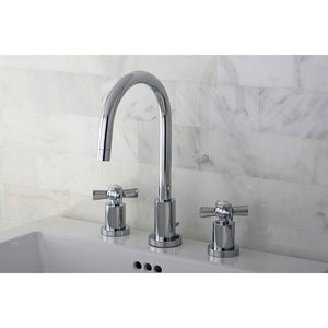 Kingston Brass Millennium Mini-Widespread Bathroom Faucet with Cross Handles