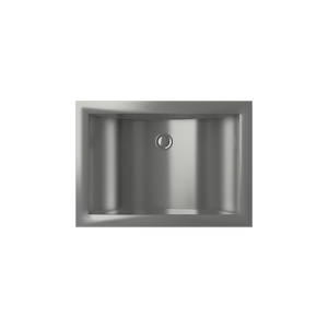 Cantrio Koncepts Rectangular Stainless Steel Undermount Sink - Brushed Finish
