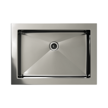 Load image into Gallery viewer, Cantrio Koncepts Rectangular Stainless Steel Drop in Bathroom Sink - Polished Chrome Finish