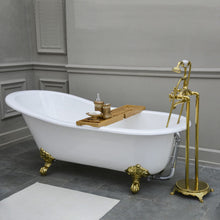 Load image into Gallery viewer, Kingston Brass Aqua Eden 61-Inch Cast Iron Single Slipper Clawfoot Tub (No Faucet Drillings)