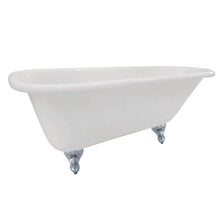 Load image into Gallery viewer, Kingston Brass Aqua Eden 66-Inch Cast Iron Roll Top Clawfoot Tub (No Faucet Drillings)