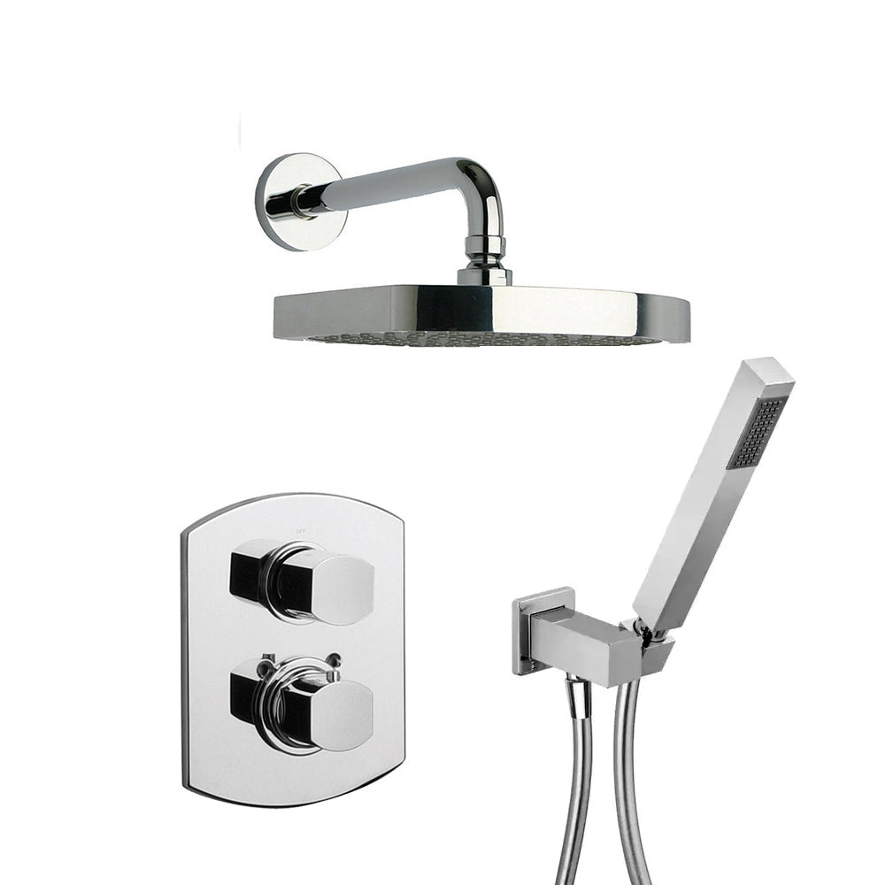 LaToscana Novello Thermostatic Shower with 2-Way Diverter Volume Control and Hand-Shower