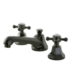 Kingston Brass 8 in. Widespread Bathroom Faucet in Black Stainless Steel
