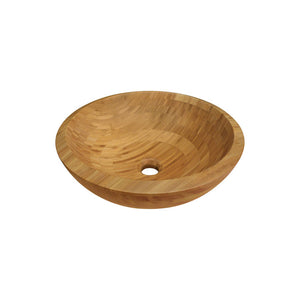 Polaris P098 Bamboo Vessel Sink and Waterfall Faucet Ensemble