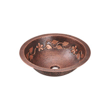 Load image into Gallery viewer, Polaris P329 Single Bowl Copper Bathroom Sink
