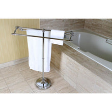 Load image into Gallery viewer, Kingston Brass Pedestal Round Plate Towel Rack