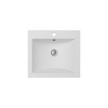 Load image into Gallery viewer, Cantrio Koncepts Square Solid Surface Vessel Sink - White Matte Finish