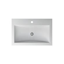 Load image into Gallery viewer, Cantrio Koncepts Rectangular Solid Surface Semi Recessed Sink - White (Matte Finish)