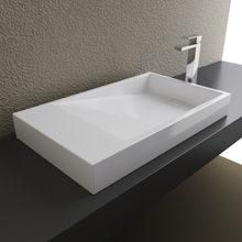 Load image into Gallery viewer, Cantrio Koncepts Solid Surface Rectangular Above Counter Sink - White (Matte Finish)