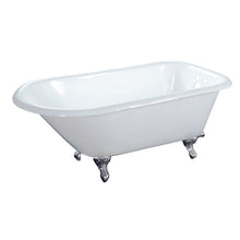 Load image into Gallery viewer, Kingston Brass Aqua Eden 48-Inch Cast Iron Roll Top Clawfoot Tub with 3-3/8 Inch Wall Drillings